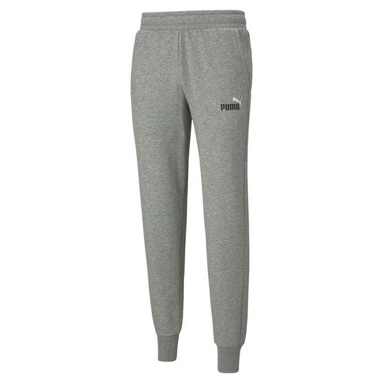 Puma Mens Essential Logo Fleece Track Pants, Grey, rebel_hi-res
