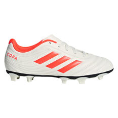 adidas Copa 19.4 Kids Football Boots White / Red US 11, White / Red, rebel_hi-res