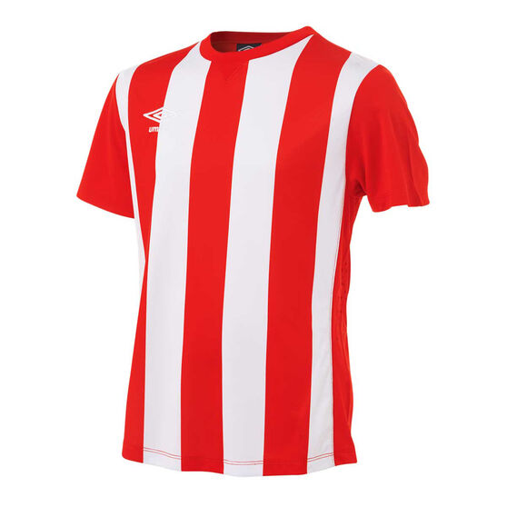 Umbro Kids Striped Jersey, Red / White, rebel_hi-res