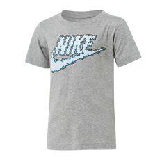 Nike Boys Futura Clouds Tee Grey 4, Grey, rebel_hi-res