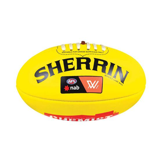 Sherrin AFLW Mini Replica Game Ball Yellow 3, , rebel_hi-res