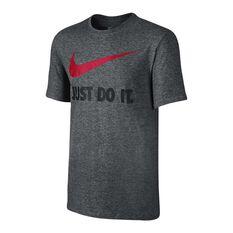 Nike Mens Just Do It Swoosh Tee, Grey, rebel_hi-res