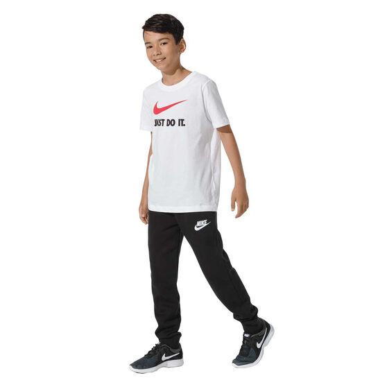 Nike Boys Sportswear Club Fleece Pants, Black / White, rebel_hi-res
