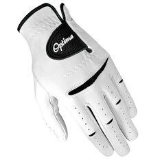 Optima Tour Soft Mens Golf Glove White / Black Left Hand, White / Black, rebel_hi-res