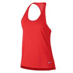 Nike Womens Miler Running Tank Red XS, Red, rebel_hi-res