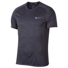 Nike Mens Miler Short Sleeve Running Top Blue S, Blue, rebel_hi-res