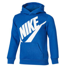 Nike Boys Futura Fleece Hoodie Blue / White 4, Blue / White, rebel_hi-res