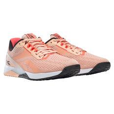 Reebok Nano X1 Womens Training Shoes, Orange/White, rebel_hi-res