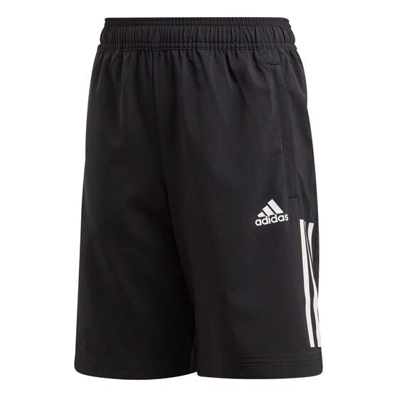 adidas Boys 3-Stripes Woven Training Shorts, , rebel_hi-res