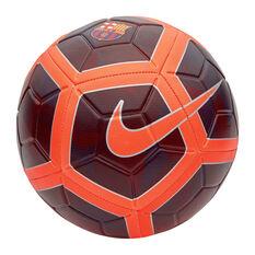Nike FC Barcelona Strike Soccer Ball Maroon 3, Maroon, rebel_hi-res