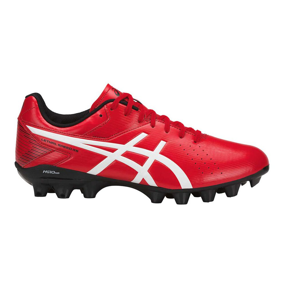 fb69e67fefe5 Asics Lethal Speed Mens Football Boots Red   Black US 7 Adult ...