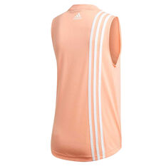 adidas Womens Must Haves 3 Stripes Tank Pink XS, Pink, rebel_hi-res
