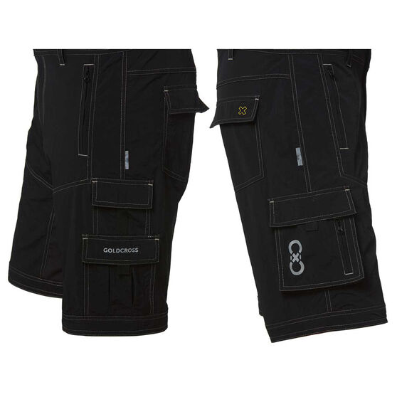 Goldcross Mens Shy Shorts Black L, Black, rebel_hi-res