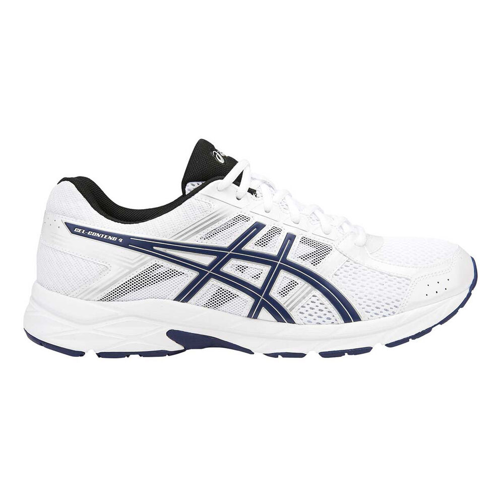 d55fa78a5b3f Asics Gel Contend 4 Mens Running Shoes White   Indigo US 7
