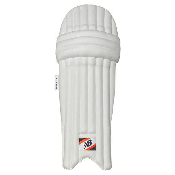 New Balance DC Covert Junior Cricket Batting Pads, Blue/Orange, rebel_hi-res