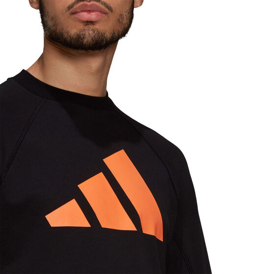 adidas Mens Future Icon Crew Sweatshirt, Black, rebel_hi-res
