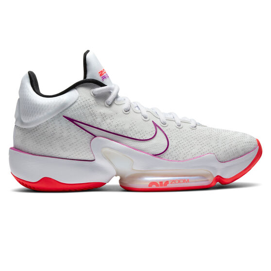 Nike Zoom Rize 2 Mens Basketball Shoes, White/Red, rebel_hi-res