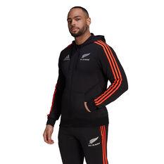 All Blacks 2021 Mens 3-Stripes Full-Zip Hoodie Black S, Black, rebel_hi-res