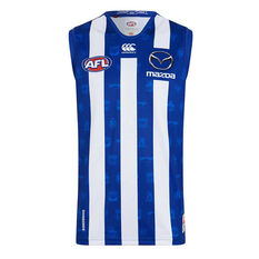 North Melbourne Kangaroos 2019 Kids Home Guernsey Blue / White 8, Blue / White, rebel_hi-res