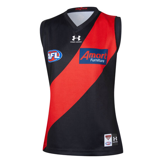 Essendon Bombers 2020 Womens Home Guernsey, Black / Red, rebel_hi-res