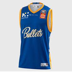 Brisbane Bullets 2018 / 19 Mens Home Jersey Blue S, Blue, rebel_hi-res