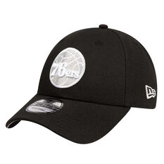 Philadelphia 76ers New Era 9FORTY Black Cloud Cap, , rebel_hi-res