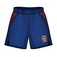 Newcastle Jets Mens Supporter Training Shorts Blue S, Blue, rebel_hi-res