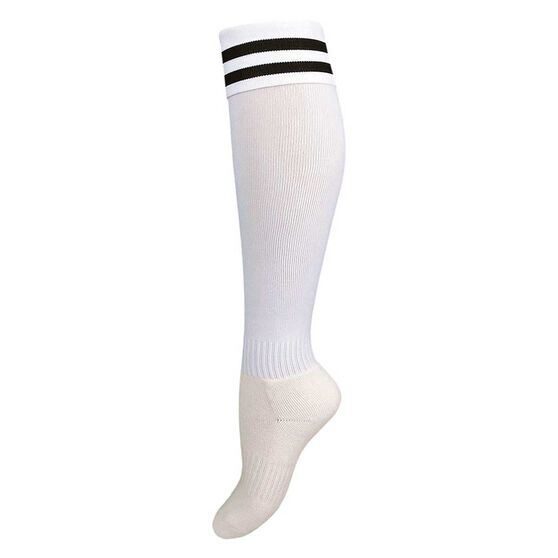 Burley Kids Football Socks, White  /  black, rebel_hi-res