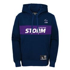 Melbourne Storm 2021 Kids Hoodie Navy S, Navy, rebel_hi-res