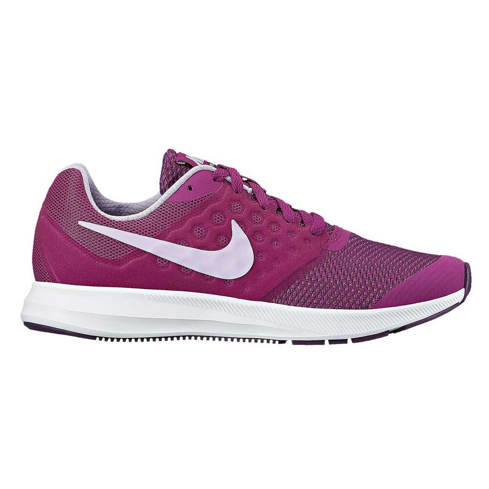 79002a7abe90 Nike Downshifter 7 Girls Running Shoes Purple   Red US 5