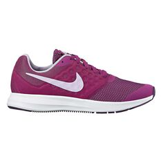 Nike Downshifter 7 Girls Running Shoes Purple / Red US 4, Purple / Red, rebel_hi-res