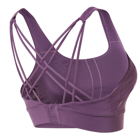 Ell & Voo Womens Quinn Sports Bra, Purple, rebel_hi-res