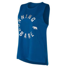 Running Bare Womens Easy Rider Muscle Tank Teal 8, , rebel_hi-res