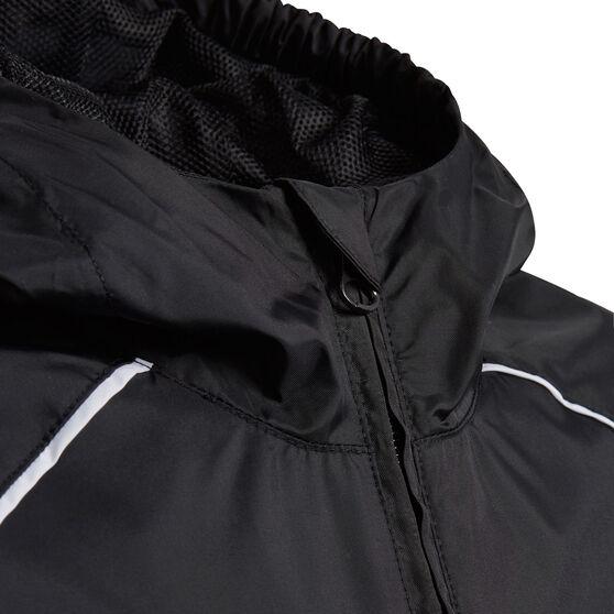 adidas Boys Core 18 Rain Jacket, Black, rebel_hi-res