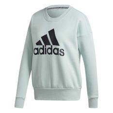 adidas Womens Badge of Sport Sweatshirt Green XS, Green, rebel_hi-res