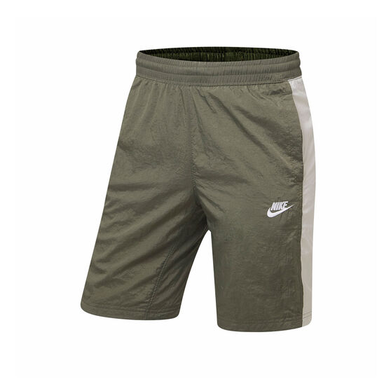 Nike Mens Sportswear Woven Shorts Green M, Green, rebel_hi-res