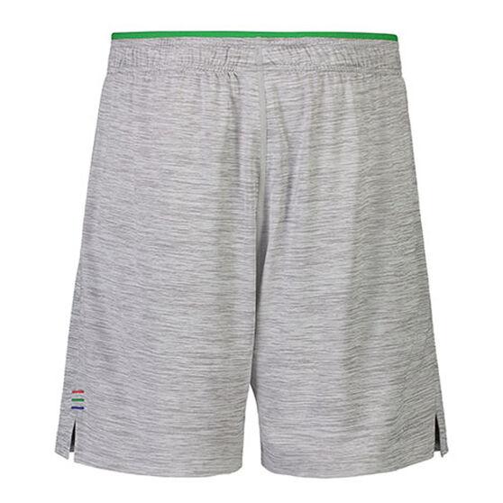 New Zealand Warriors 2021 Mens Gym Shorts, Grey, rebel_hi-res