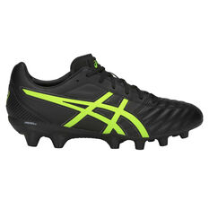 Asics Lethal Flash IT Mens Football Boots Black / Green US Mens 7 / Womens 8.5, Black / Green, rebel_hi-res