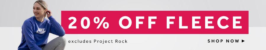 shop 20% off Fleece at rebel