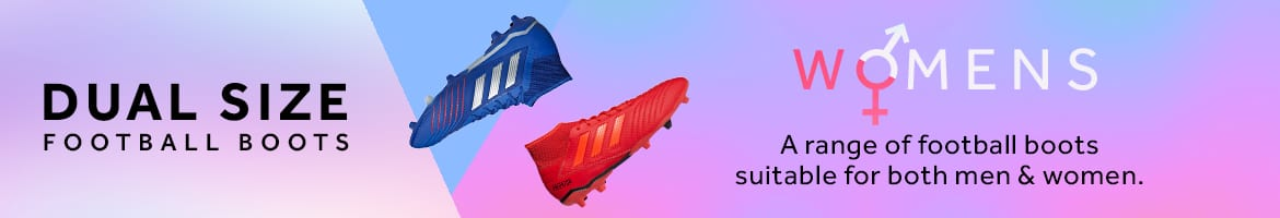 Shop a range of dual size football boots for both men and women at rebel