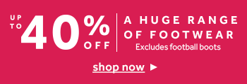 Shop up to 40% off a huge range of footwear at rebel