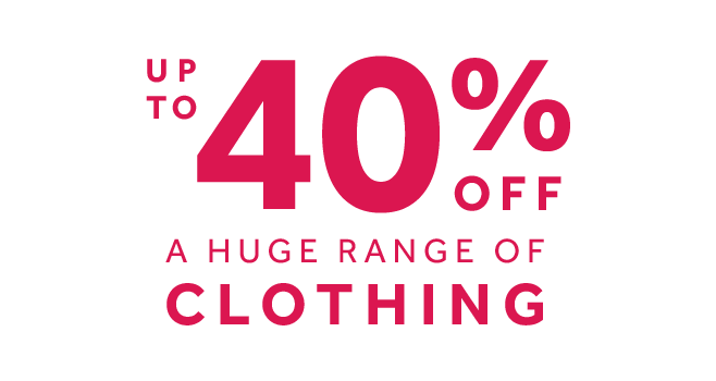 shop up to 40% off clothing at rebel