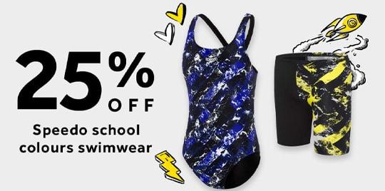 25% off Speedo School Colours Swimwear