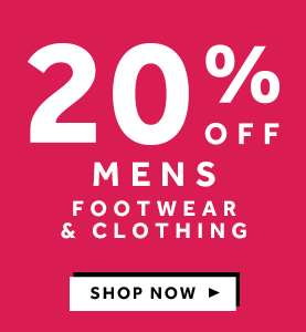 20% off Mens Footwear and Clothing at rebel
